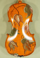 4/4 Gems 1 Intermediate Level Hand Painted 'Autumn Leaves' Violin - Code B1997V