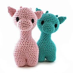 Hoooked Ziggy the Giraffe crochet kit using Eco Barbante yarn
