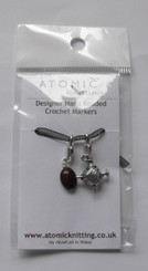 Atomic Knitting Stitch Markers - Coffee Bean and Yarn