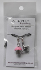 Atomic Knitting Crochet Stitch Markers - Cup Cake and Yarn