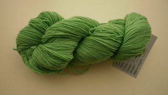 Stellar Sock yarn in Greener than Grass