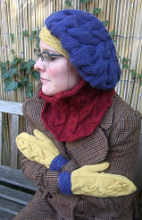 Winter Warmers Collection - Beret, cowl and mittens pattern from OneHandKnits
