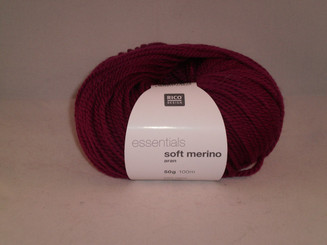 Rico Essentials Soft Merino Aran in Berry