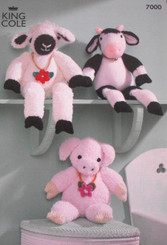 Sheep, Cow and Pig pattern - 7000