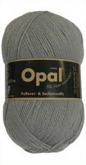 Opal Uni Solid 4-ply Sock Yarn in medium grey (5193)