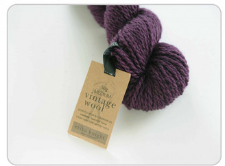 Erika Knight Vintage Wool in shade 14 Mulberry