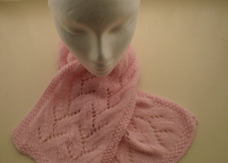 Angora Lace Neck Warmer Pattern