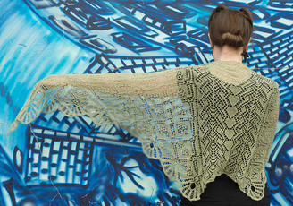 Rose Garden Shawl pattern from OneHandKnits