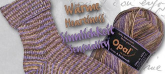 Opal Show Your Colours 4-ply Sock Yarn in shade Heartiness and Sensuality