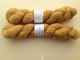 Eden Cottage BFL sock in Harvest Gold (lot 180513) and (lot 050714)
