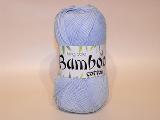 King Cole Bamboo Cotton Double Knit yarn in Ice