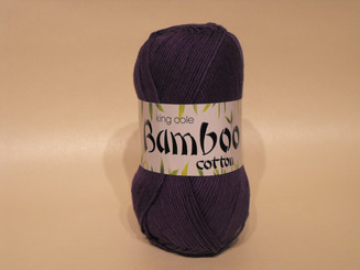 King Cole Bamboo Cotton Double Knit yarn in Damson