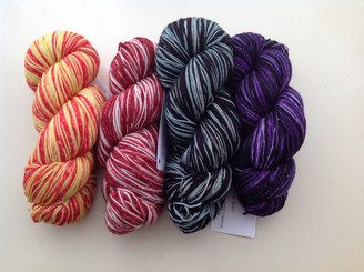Exclusive Self-Striping Sock Yarn from The Knitting Goddess