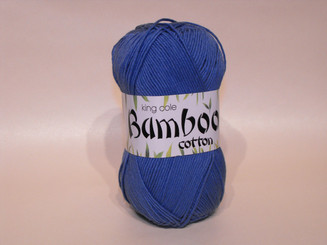 King Cole Bamboo Cotton Double Knit yarn in Cobalt