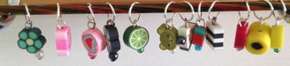 Fimo Stitch Markers for needles up to 6mm