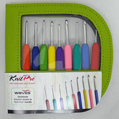 Knit-Pro Waves Single Ended Crochet Set in Faux Leather Case