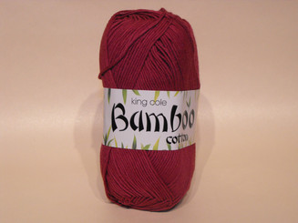 King Cole Bamboo Cotton Double Knit yarn in Plum
