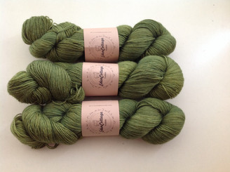Eden Cottage BFL sock in Algae