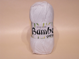 King Cole Bamboo Cotton Double Knit yarn in White