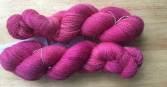 Heavensphere Luxury sock yarn in 'cascade delight' raspberry