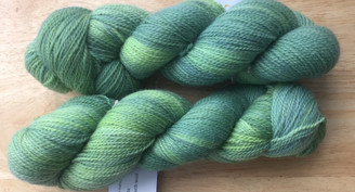 Heavensphere Luxury sock yarn in 'gold standard' hosta