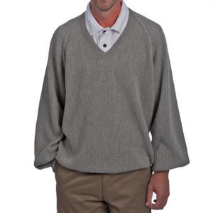 Men's Alpaca V-Neck Pullover - Retro Pro Front
