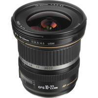 Canon EF-S 10-22mm f/3.5-4.5 USM Autofocus Lens 24 Day/96 Week/192 Month