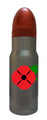 Red Poppy Remembrance Silver Hollow Point  AmmOMug®