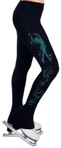 Skating Pants with Spangles S102B