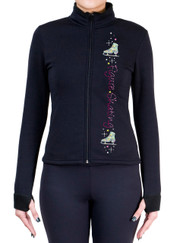 Fitted Skating Fleece Jacket with Spangles S110