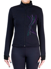 Fitted Skating Fleece Jacket with Spangles S116
