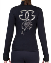 Fitted Skating Fleece Jacket with Rhinestones R27
