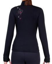 Fitted Skating Fleece Jacket with Rhinestones R45B1