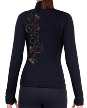 Fitted Skating Fleece Jacket with Rhinestones R46B