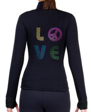 Fitted Skating Fleece Jacket with Rhinestones R89