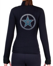 Fitted Skating Fleece Jacket with Rhinestones R139