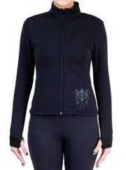 Fitted Skating Fleece Jacket with Rhinestones R140