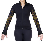 Fitted Skating Fleece Jacket with Rhinestones R186