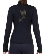 Fitted Skating Fleece Jacket with Rhinestones R195