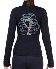 Fitted Skating Fleece Jacket with Rhinestones R251