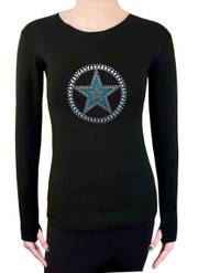 Long Sleeve Shirt with Rhinestones R139