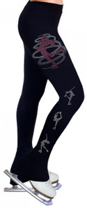 Skating Pants with Rhinestones R248AB