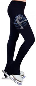 Skating Pants with Rhinestones R230BB - Baby Blue
