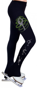 Skating Pants with Rhinestones R256LM - Lime