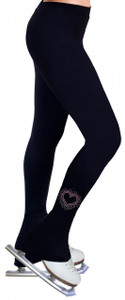 Skating Pants with Rhinestones R107- Pink