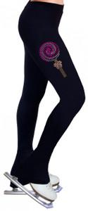 Skating Pants with Rhinestones R282 - Pink
