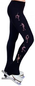 Skating Pants with Rhinestones R224 - Rose Pink