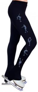 Skating Pants with Rhinestones R224 - Baby Blue