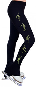 Skating Pants with Rhinestones R224 - Lime