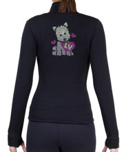 Fitted Skating Fleece Jacket with Rhinestones R286